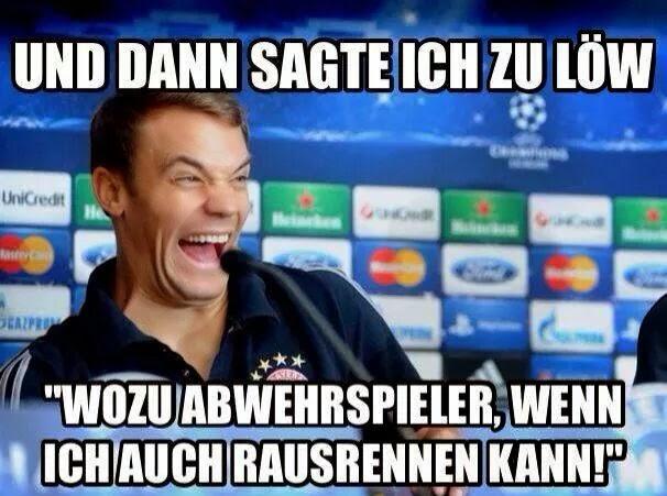 Manuel Neuer in den Mund gelegt