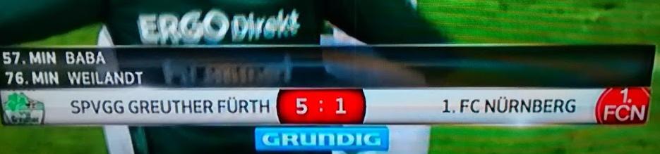 Das 257. Frankenderby endete 5:1 für Greuther Fürth