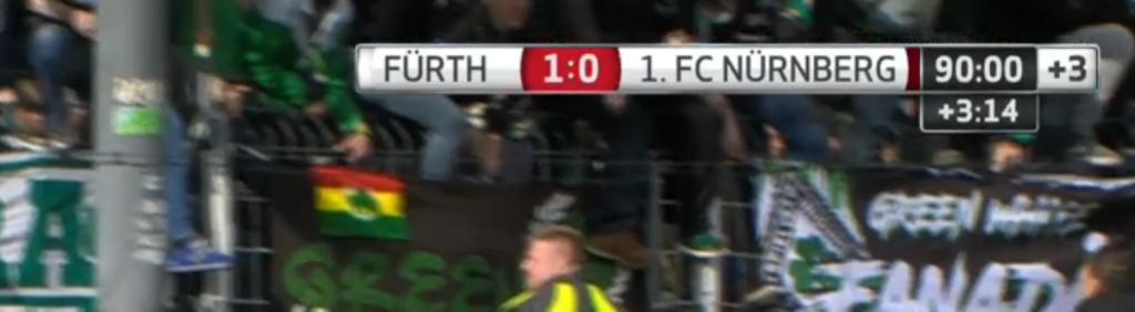 SpVgg Greuther Fürth - 1. FC Nürnberg 1:0 (0:0) Endstand